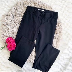 Betabrand Straight Leg Black Dress Pant
